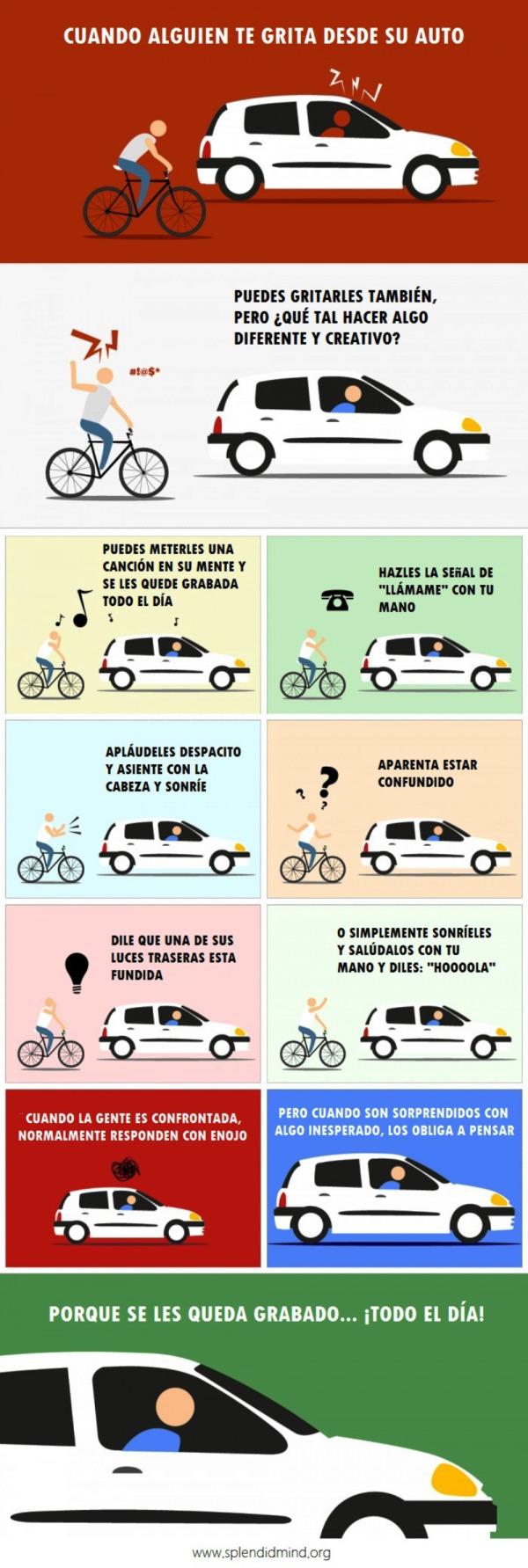 Esta Imagen Te Explica Qué Hacer Cuando Alguien Te Insulta En La Carretera Car Repair Service Bike Bike Repair