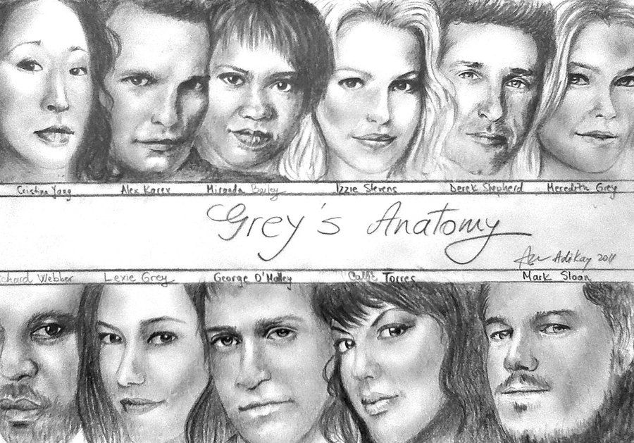 Grey\'s Anatomy Drawings | grey s anatomy by adikay traditional art ...