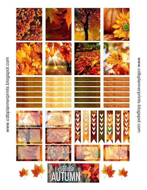 CDB Planner Prints Autumn