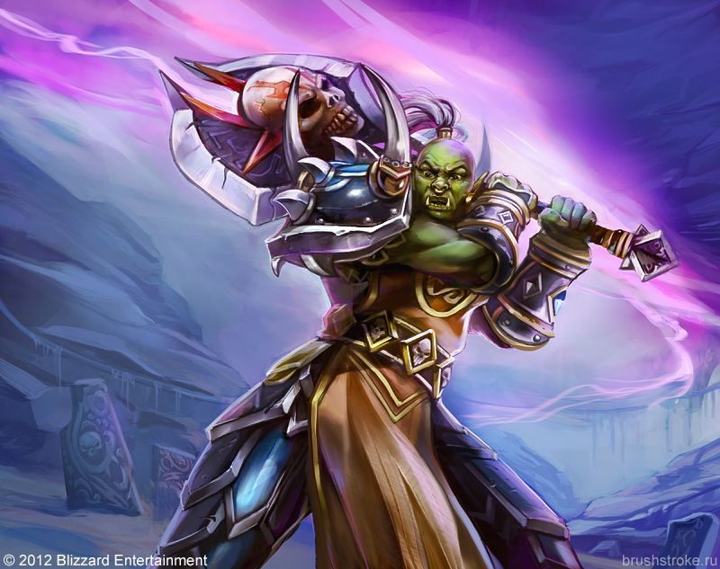 WoW TCG Orc Warrior by AppleSin on deviantART Orc