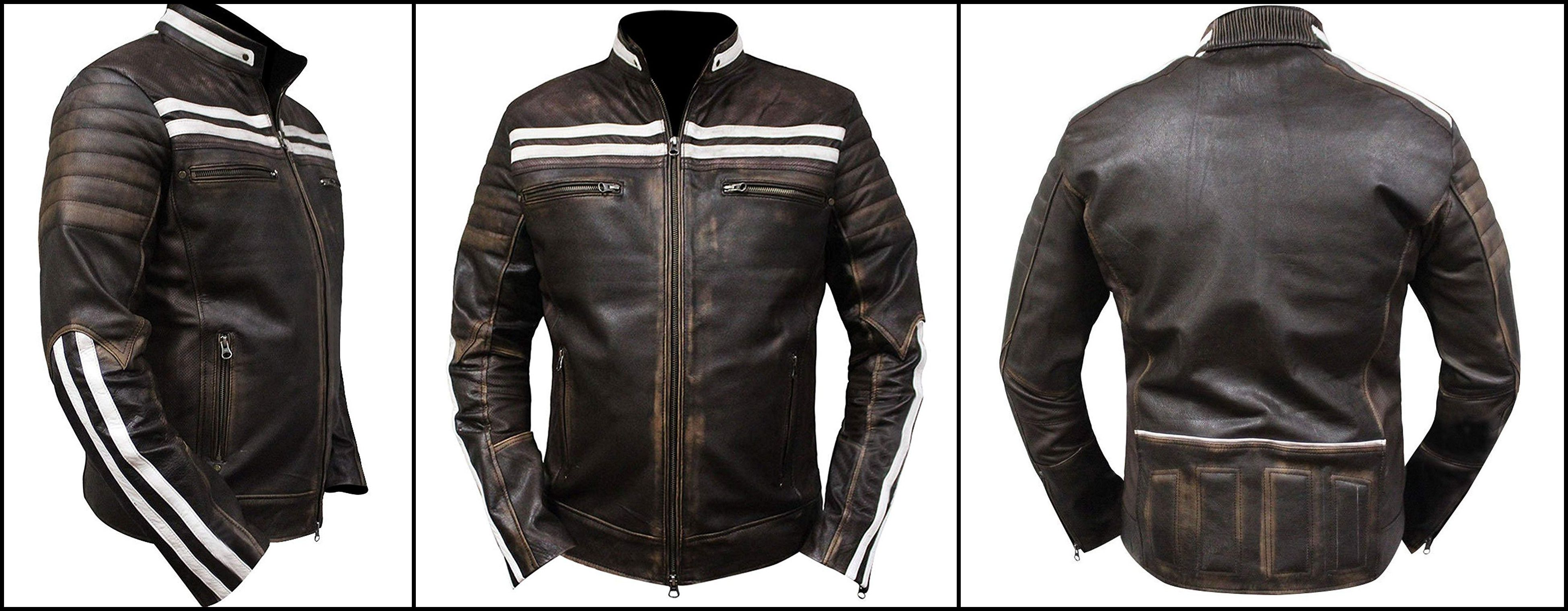 Ryan Gosling Faux Leather Motorbike Bomber Biker Style Vintage Jacket