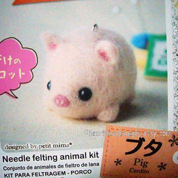 Lovely Dog Needle Felting Kit DIY For Beginners with Basic Tools Tutorial 6#
