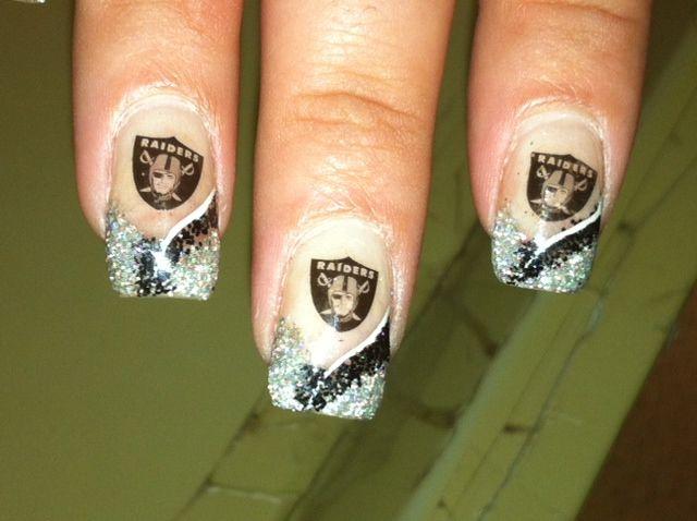 Raiders Nail Art Nails Raiders Nails Football Nail Designs