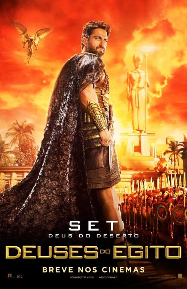 Primeiros Posteres Do Filme Deuses Do Egito Com Gerard Butler Cinema Bh Deuses Do Egito Filme Lixeira Carro Filme Deus