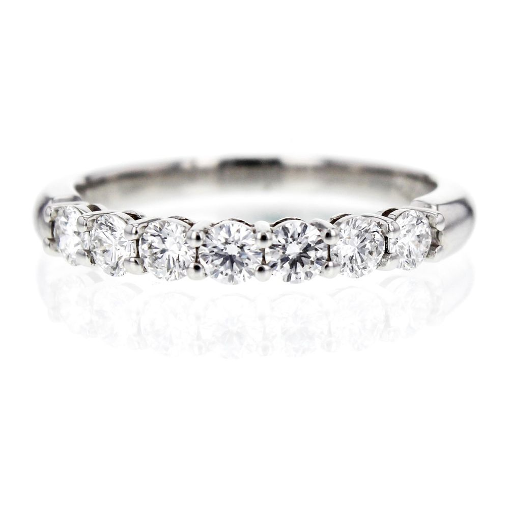 Tiffany & Co. Shared-setting Diamond 3mm Band Ring in Platinum, Size 7 #TiffanyCo #Band