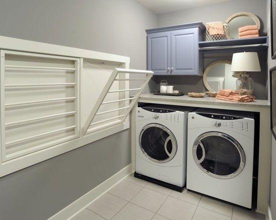 أعد اللصق جزرة واقعي utility room clothes drying