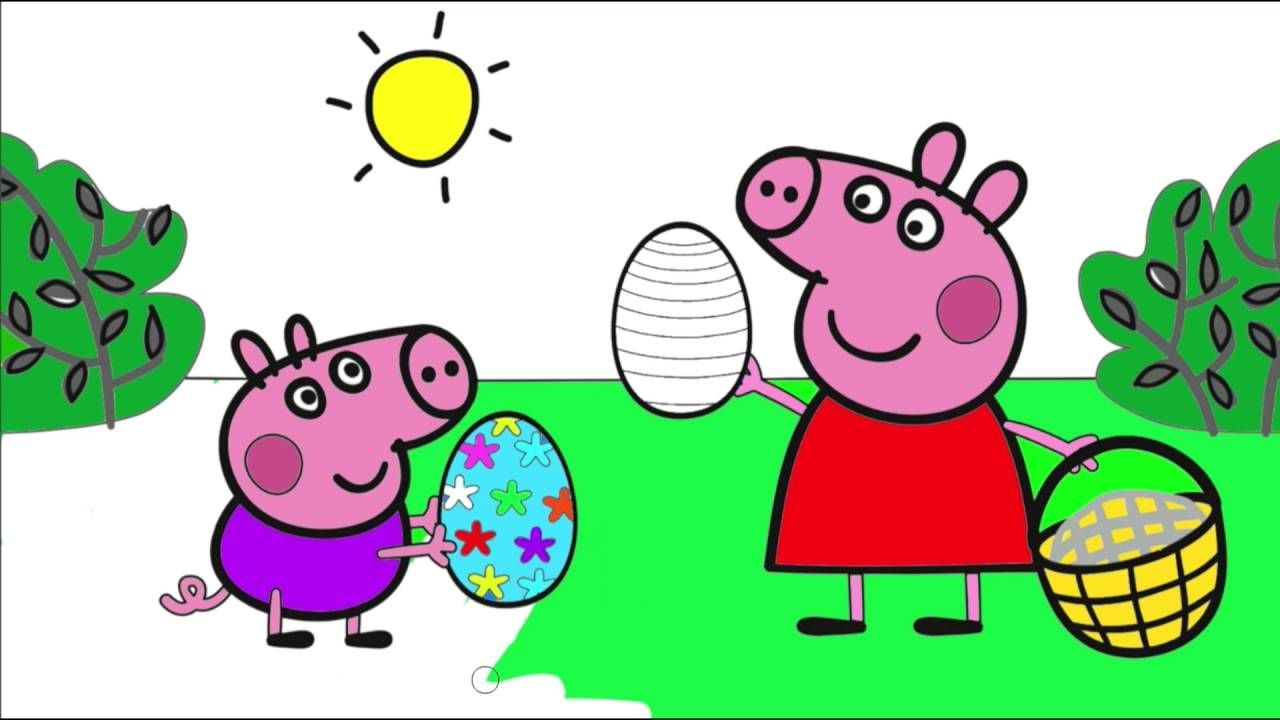 Peppa Pig ☆ Coloring Pages - YouTube   Peppa Pig Coloring   Pinterest