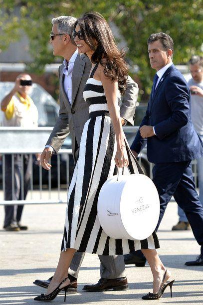 Der Style Von Amal Clooney Amal Alamuddin Style Fashion Dolce Gabbana Dress