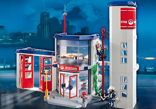 Caserne de pompiers pm france playmobil france pompiers playmobil fire et kids toys - Caserne de police playmobil ...