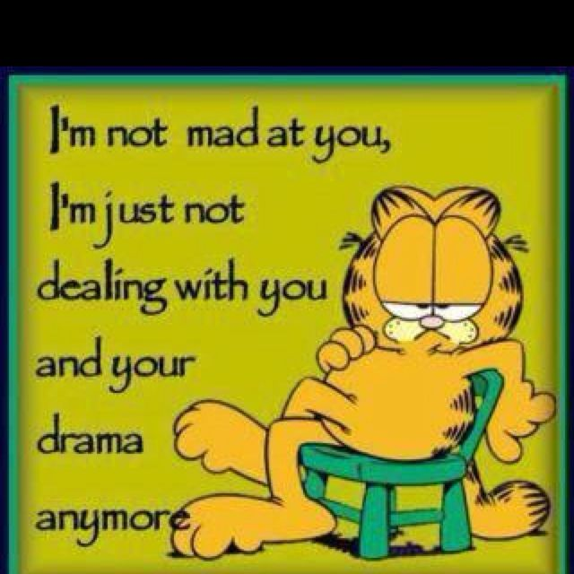 Love The Face Garfield Quotes Drama Quotes Words