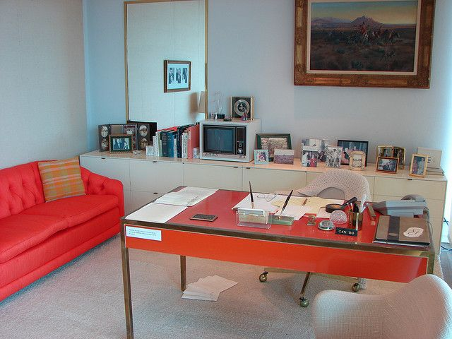 "Lady Bird Johnson's office. A replica (I think what we see here) is at the LBJ Library in Austin, which I visited once. They also have a replica of LBJ's oval office, at 7/8 scale, which is kinda funny. I hate this trend of little words and slogans everywhere ""keep calm carry on' etc, but the CAN DO thing is just right."