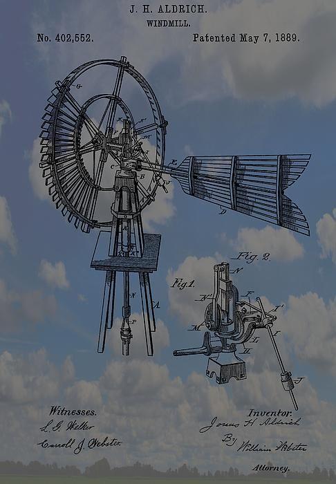 Windmill Patent Blue Skies