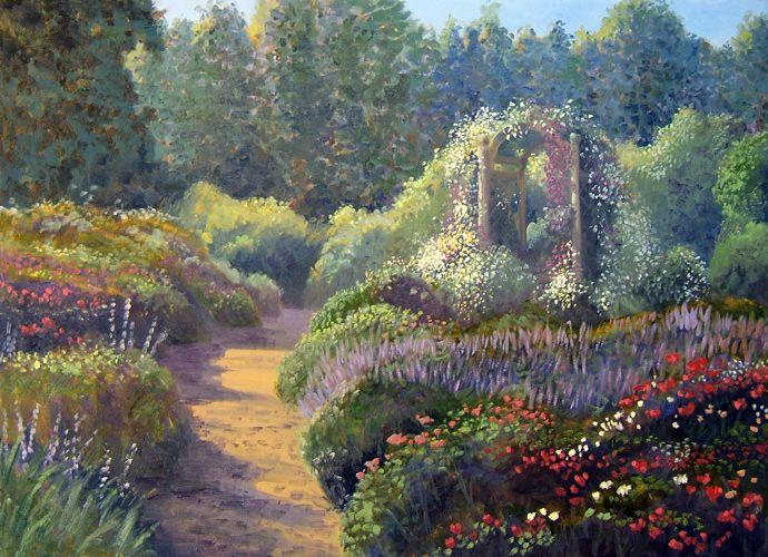 Simple Flower Garden Paintings delighful simple flower garden paintings on design decorating