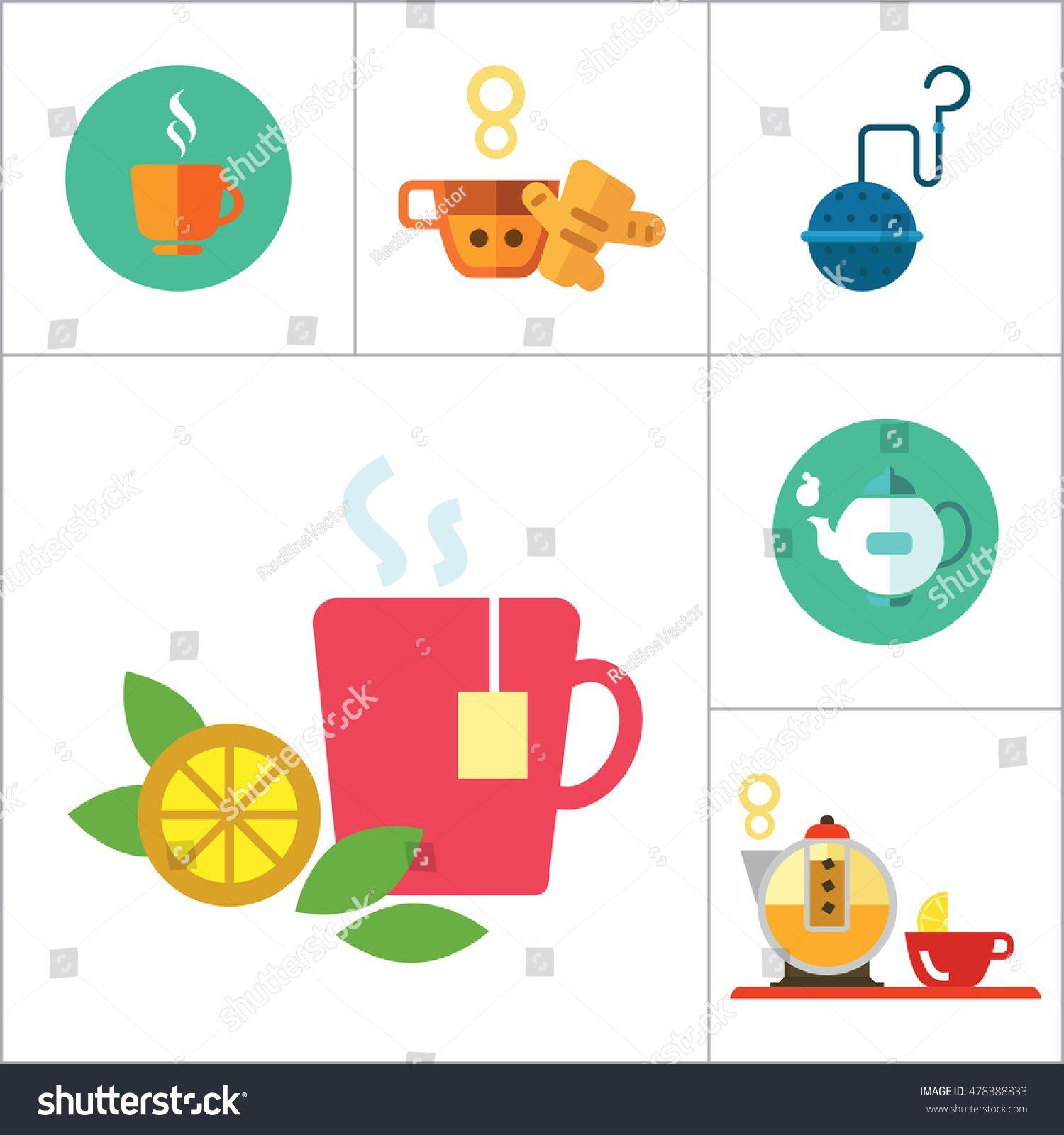 Tea Icons Set Sponsored , AD, TeaIconsSet in 2020