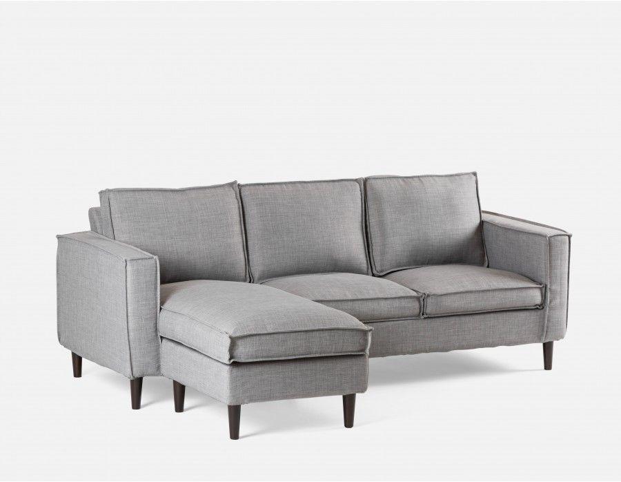 the latest 1577e bb7b6 YORK - Interchangeable sectional sofa - Light Grey ...
