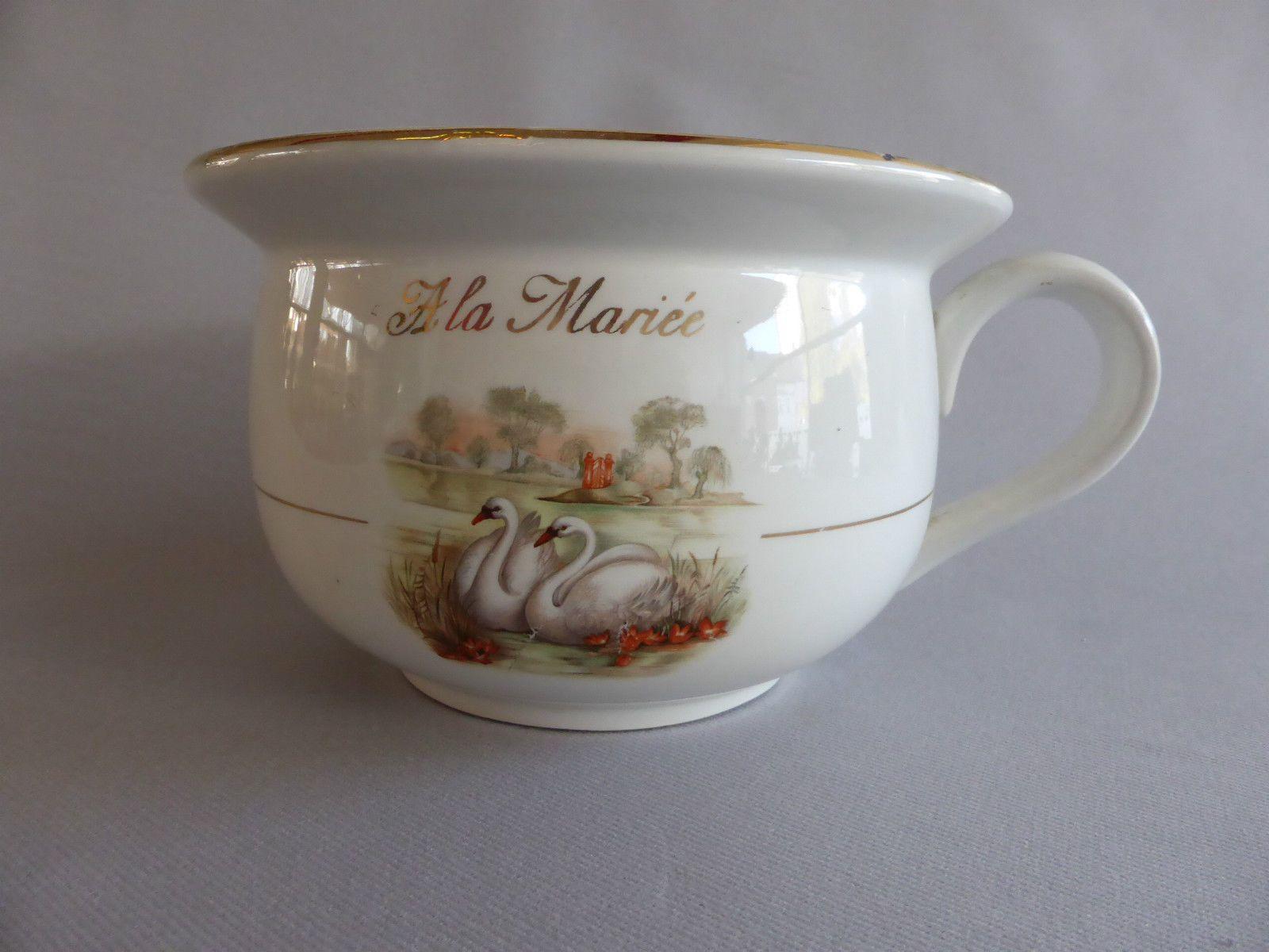 Pot De Chambre A La Mariee Ceramique Moulin Des Loups Orchies Oeil Intrusif Ebay