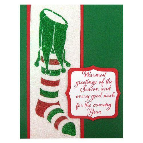 Happy Holidays Stampendous Dreamweaver Stencil