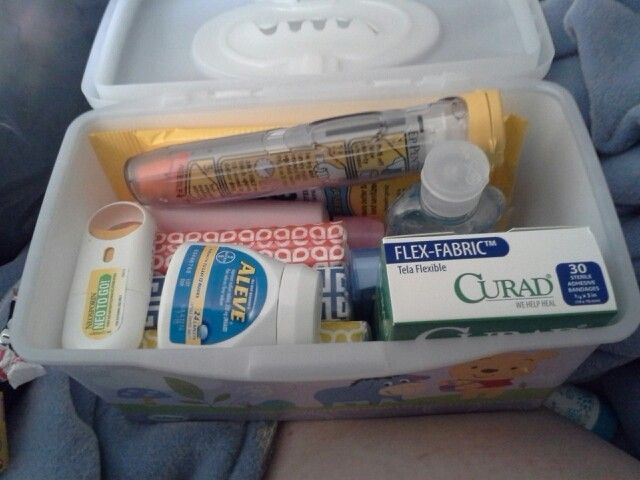 Homemade Emergency Car Kit Reusing Baby Wipes Container Includes