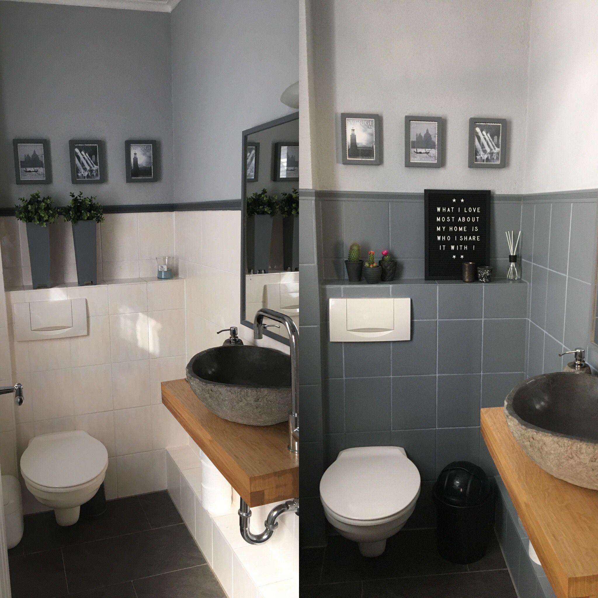 Du Kannst Dir Keine Neuen Fliesen Leisten Dann Streiche Sie Doch Einfach Lies Hier Den Blog Kleines Wc Zimmer Fliesen Streichen Badezimmerideen