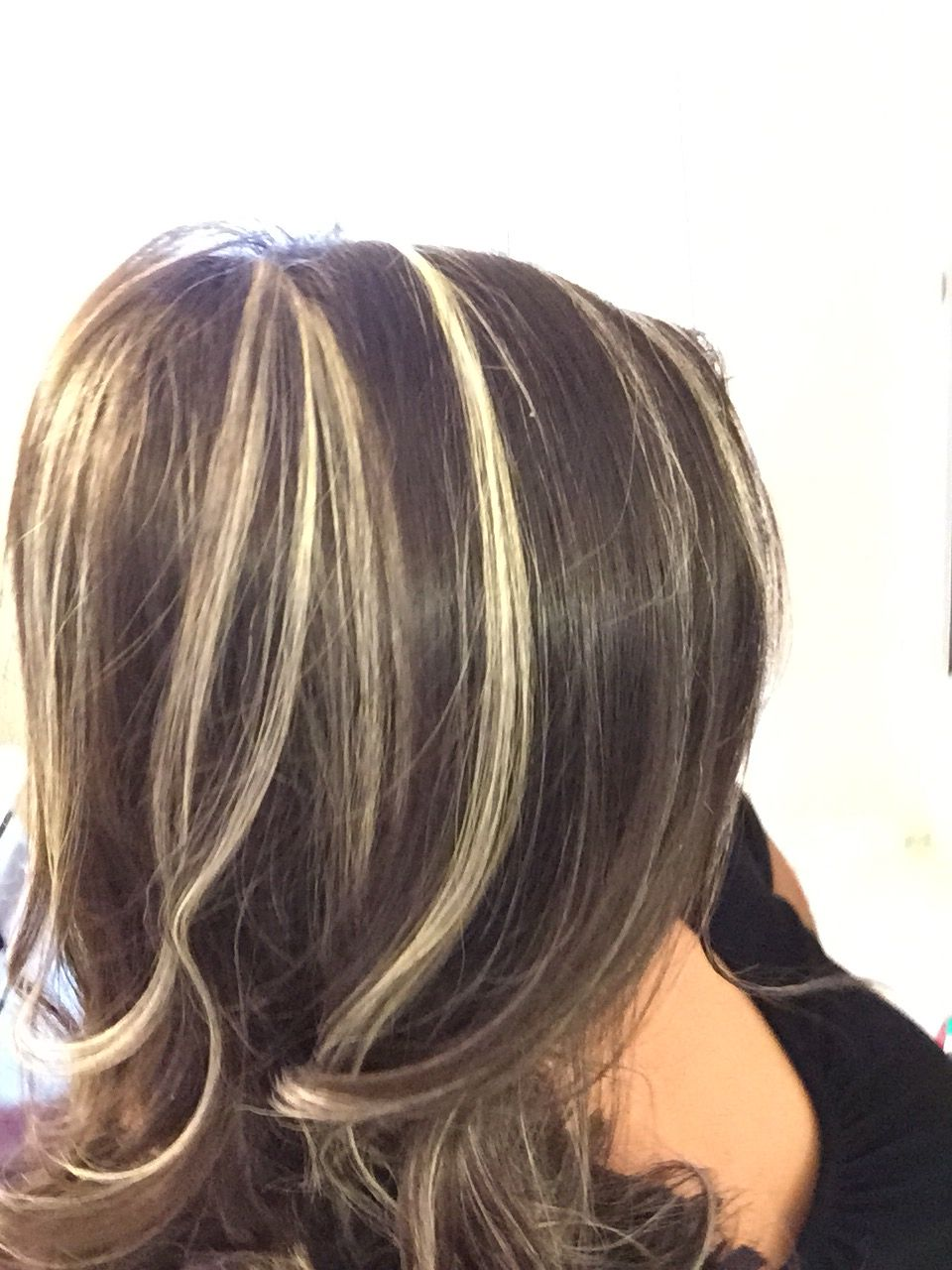 Blonde Highlights on dark brown hair I totally love my