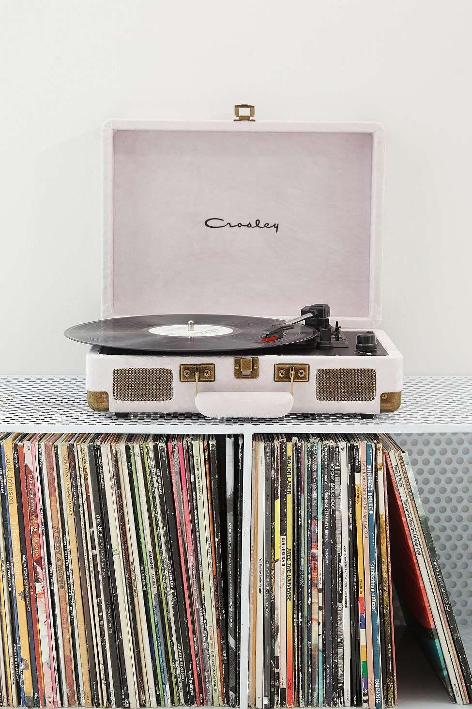 Crosley Cruiser Ice Velvet Vinyl Record Player Vinyl