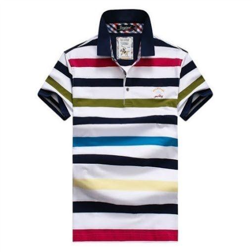 78680253e3 Camisa Paul   Shark Polo masculina manga curta branco azul