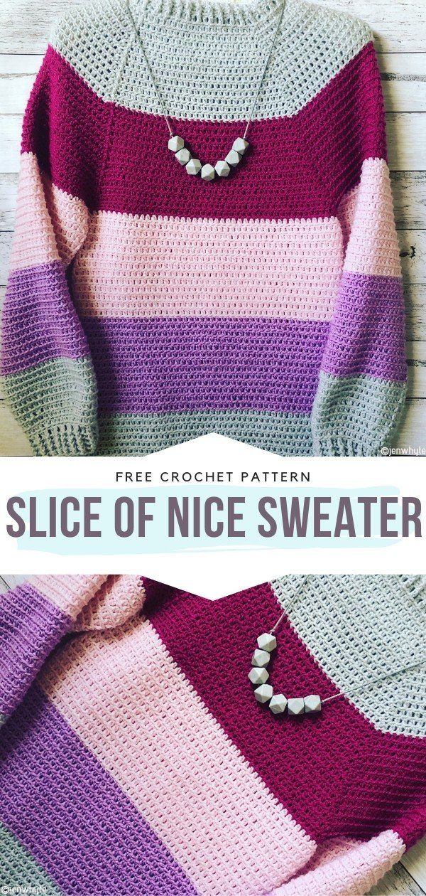 How to Crochet Slice of Nice Sweater