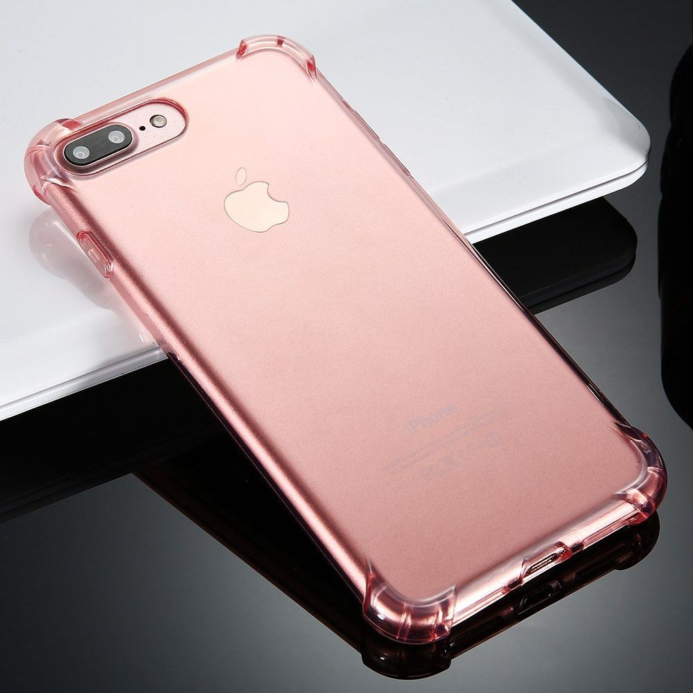 FLOVEME Anti-knock Case for iPhone 6 6S Plus Case Silicone for iPhone 7 7 Plus Case TPU Transparent Clear Cover Full Protective
