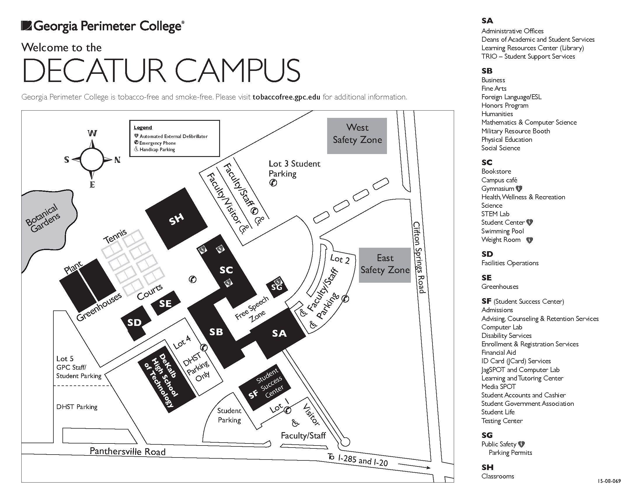 Interactive Campus Map Ua.Decatur Campus Map Campus Maps Pinterest Campus Map College