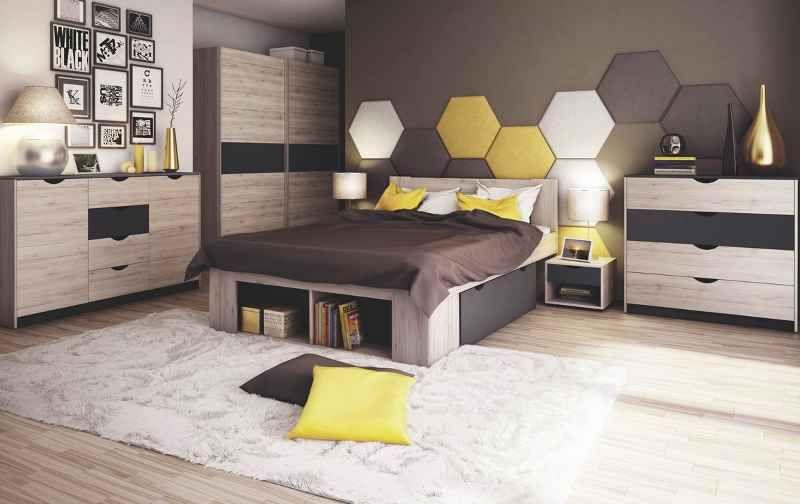 JR C Ložnice ROMA ( postel 160, skříň, 2 stolky