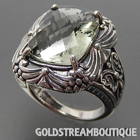 CLYDE DUNEIER 925 SILVER FACETED GREEN AMETHYST COMPLEX ORNATE BUTTERF – Gold Stream Boutique