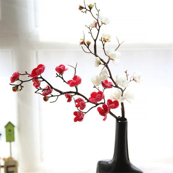 5pcs Artificial Cherry Blossom Flowers Silk Sakura Branches for Wedding Ceremony