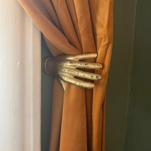 Hand Hook Wall Hooks Hand Wall Hook Curtain Holdback Wall Etsy In 2020 Wall Hooks Hand Hooked Hook