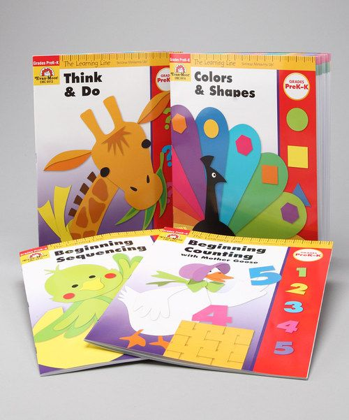 Prepare little learners for classroom success with this educational set that helps create confiden