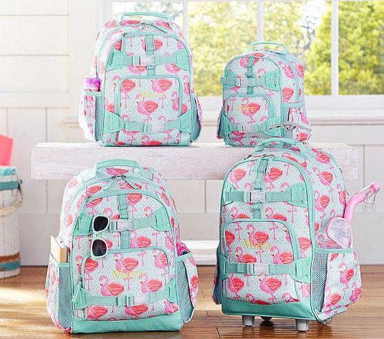 9e86caa8424 dying over the flamingos!!! |Mackenzie Aqua Flamingo Backpacks | Pottery  Barn Kids