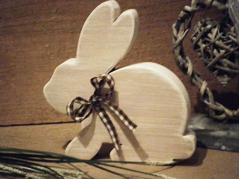 Hase Osterhase aus Holz im Shabby Chic by dreamshop