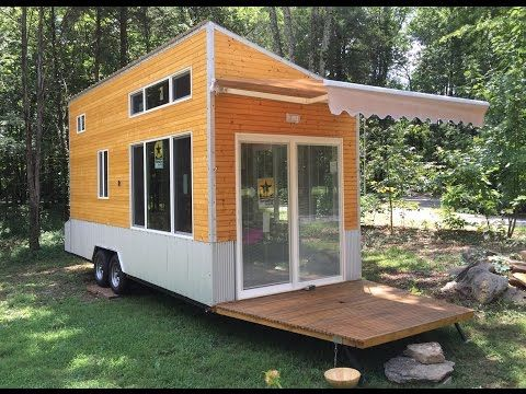 Energy Efficient Off Grid Tiny House In Nashville Youtube Tiny House 200 Sq Ft Tiny House Towns Tiny House Builders