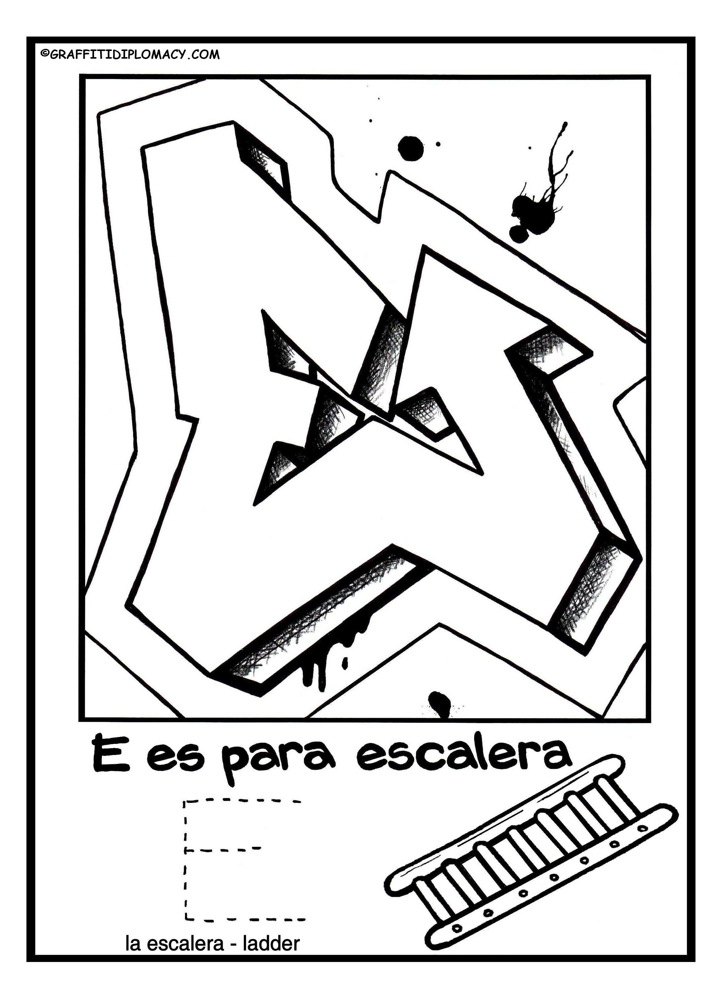 E_for_website_Spanisg_Alphabet_Coloring_Book_Graffiti