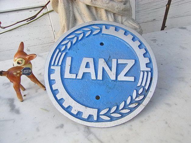 Vintage Töpfe - Lanz Bulldog Traktor Trecker Plakette Emblem - ein ...