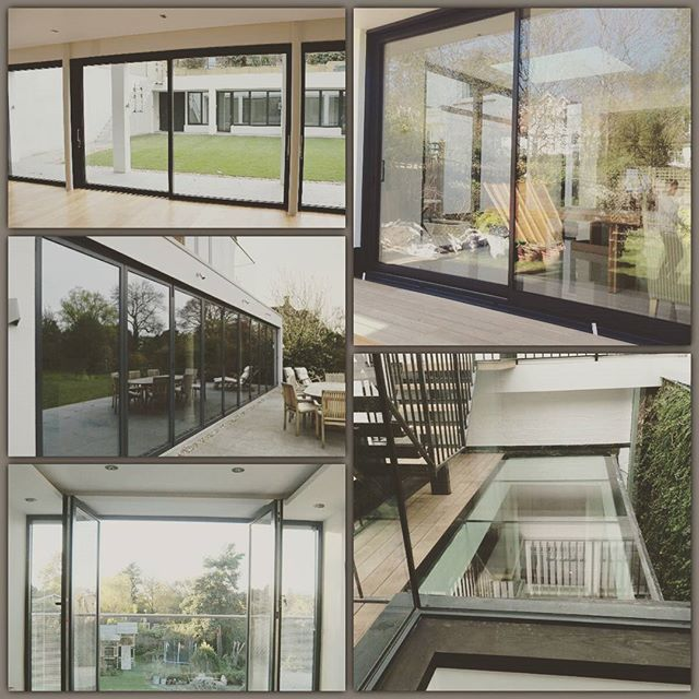 We Install Schuco Fw50 Glass Roofs Four Pane Bi Folds