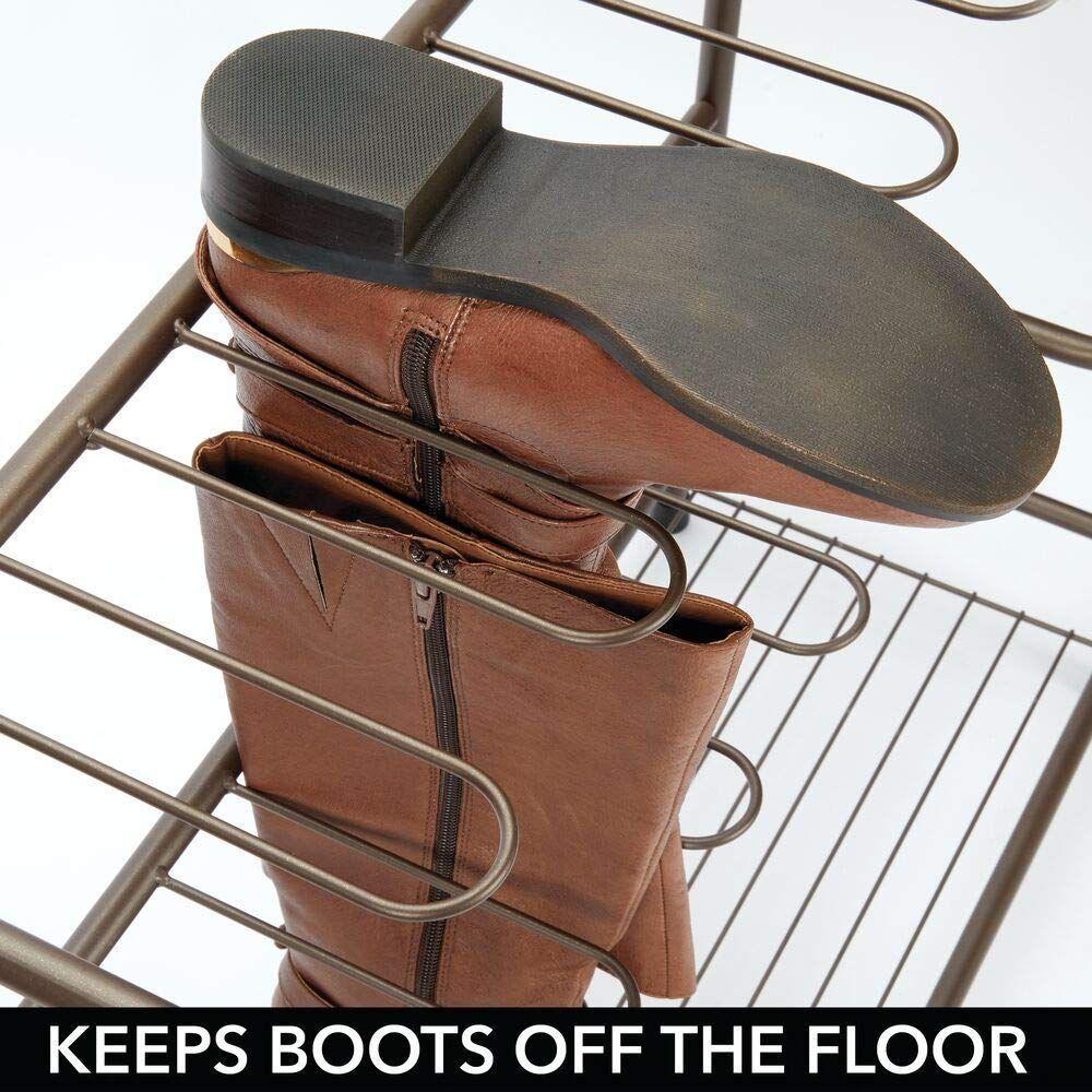 mDesign meuble à chaussures en métal – rangement chaussures et bottes à suspendre – porte cha...