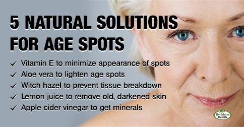 Natural remedies for facial sun spots