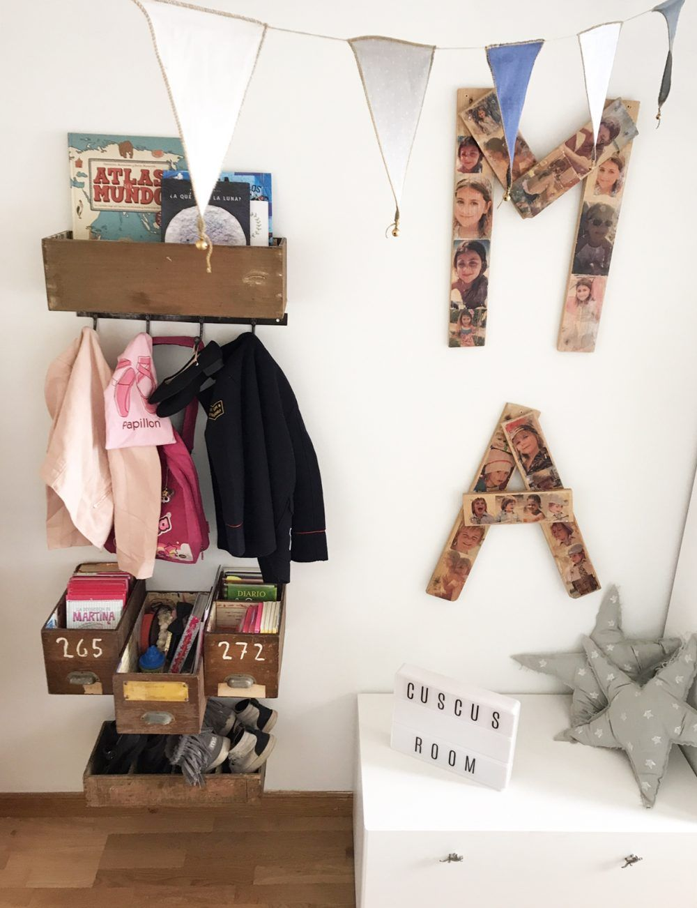 Decoración de habitación infantil compartida para niña y niño con Ikea.