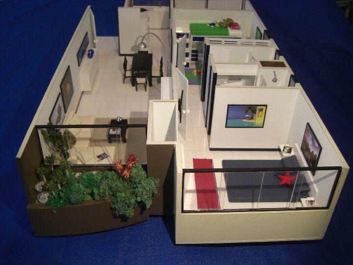 Modelo de apartamento maqueta de proyecto social for Maquetas de apartamentos modernos