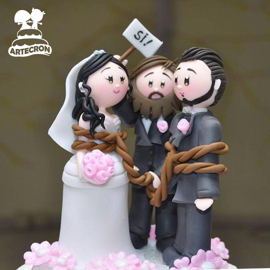 muñecos pastel boda personalizados