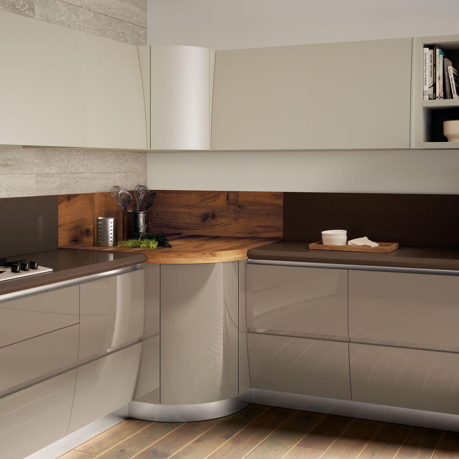 Flux Swing di Scavolini è la cucina dal design arrotondato e ...