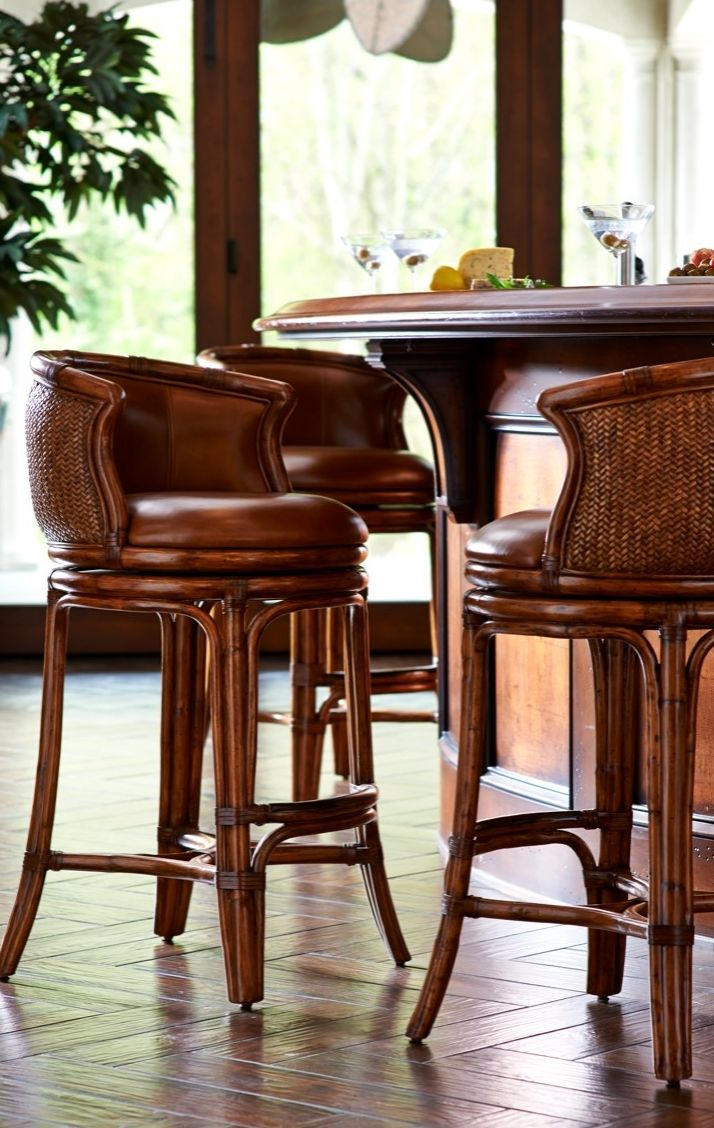 The Bali Bar Stool Blends Transitional And Tropical