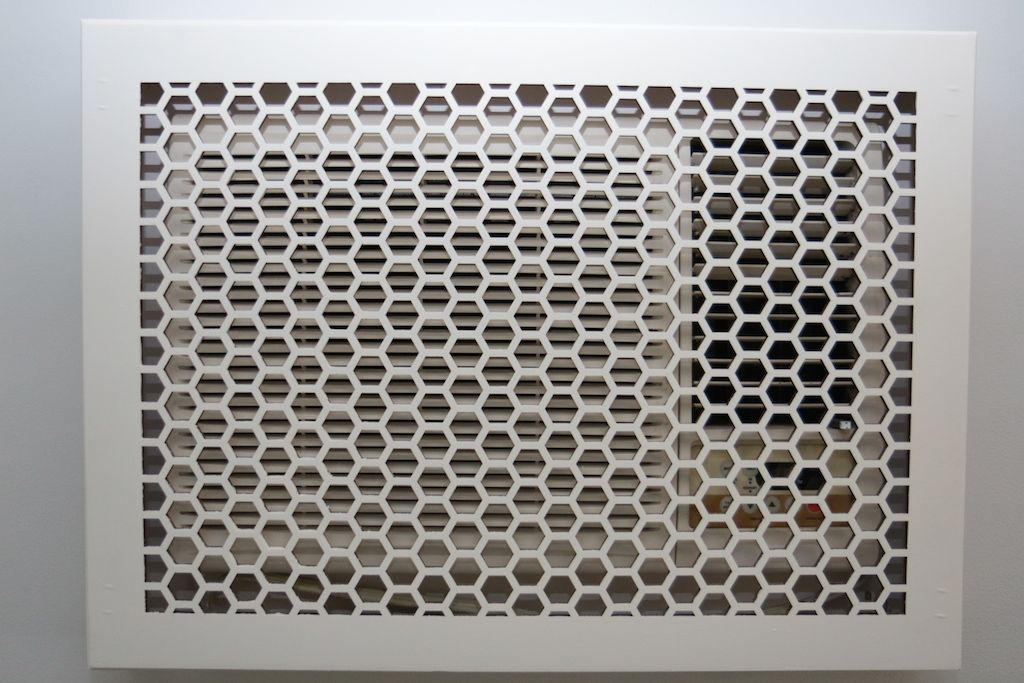 "Wall & Ceiling Wood Vent Grille Pattern ""J"" Design Air"