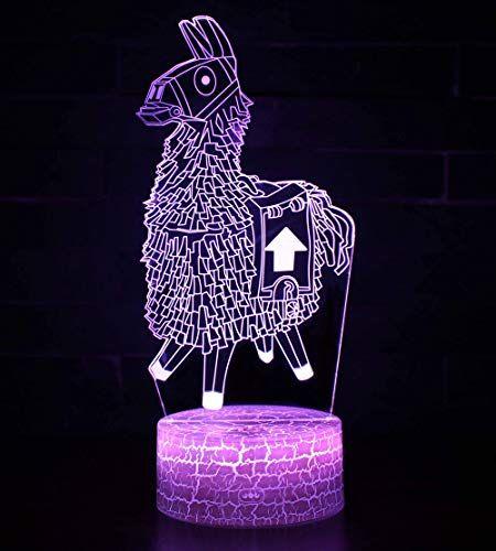 3d Lampe Illusion Optique Led Veilleuse Ckw 7 Couleurs Tactile Lampe De Chevet Chambre Table Art Deco Enfant Lu Deco Enfant Cadeau Anniversaire Lampe De Chevet
