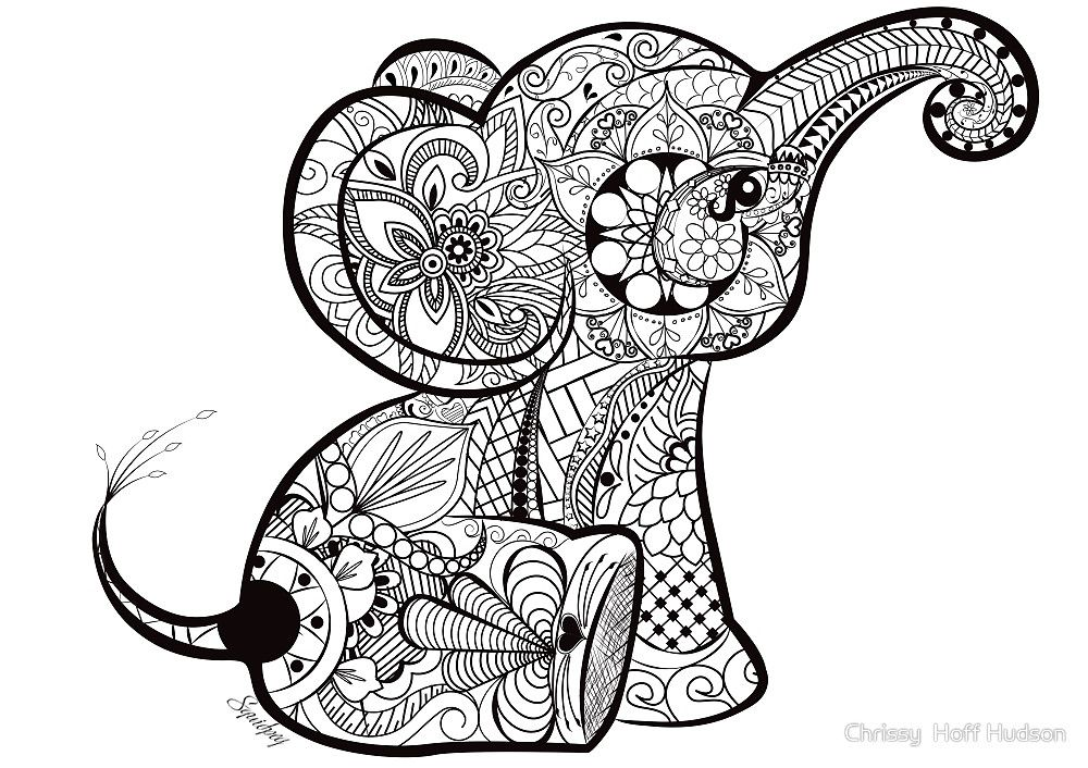 A Better Pic Of The Baby Elephant #doodle.